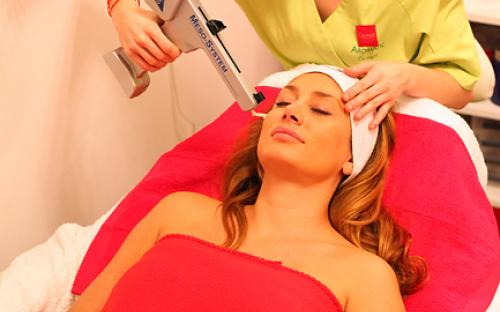 Mesolift. mesotherapy wrinkle filling, skin structure improving treatment